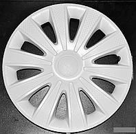 Колпаки на колеса диски для дисков R16 белые выпуклые Газель колпак K0306