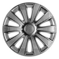 Колпаки на колеса диски для дисков R16 серые выпуклые Газель колпак K0308