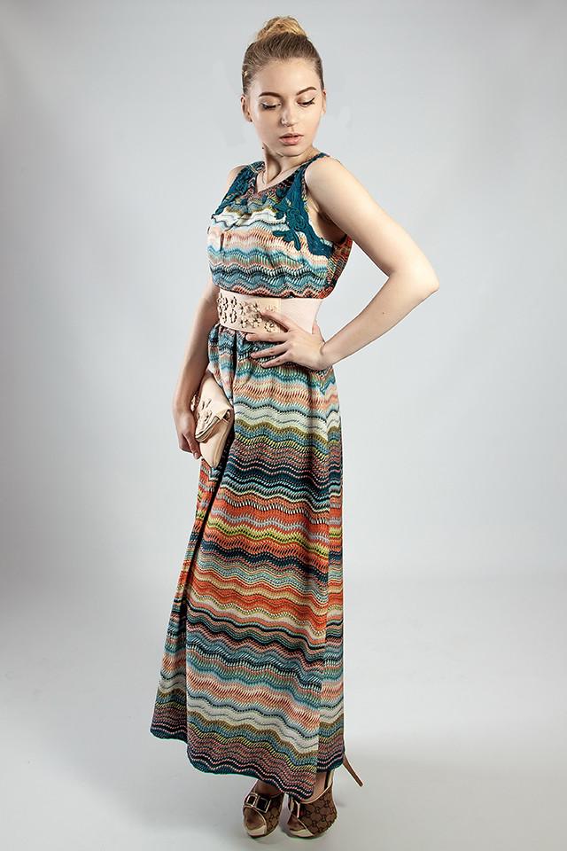 Женское платье  летнее в пол цветное Markshara