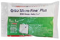 Инсулиновый шприц BD Micro-Fine Plus 1мл U-40  с интегрированной (несъемной) иглой, 10 шт/уп, фото 1