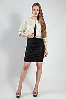 Жакет пиджак короткий светлый нарядный 3\4 рукав р  L Rinascimento