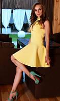 Платье из неопрена желтое