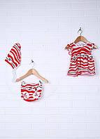 Ясельный Комплект для девочки (платье, трусы, косынка)
