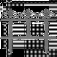 "Забор декоративный ""Ажур"" ""набор 3 шт. (1,125 м) мраморная"