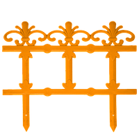 "Забор декоративный ""Ажур"" набор 4 шт. (1,5 м) терракотовая"
