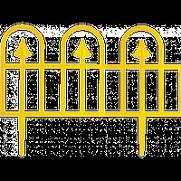 "Забор декоративный ""Суматра"" набор 4 шт. (1,86 м) желтая"