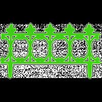 """Забор декоративный """"Корсика"""" набор 3 шт. (1,53 м) темно-зеленая"""