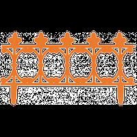 """Забор декоративный """"Корсика"""" набор 3 шт. (1,53 м) терракотовая"""