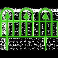 "Забор декоративный ""Суматра"" набор 4 шт. (1,86 м) темно-зеленая"
