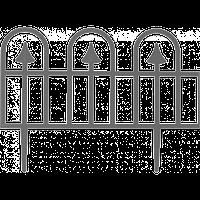 """Забор декоративный """"Суматра"""" набор 4 шт. (1,86 м) мраморная"""