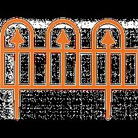 "Забор декоративный ""Суматра"" набор 4 шт. (1,86 м) терракотовая"