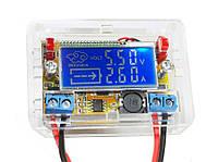 Понижающий преобразователь  DC-DC Step-down модуль заряда c вольтметром и амперметром