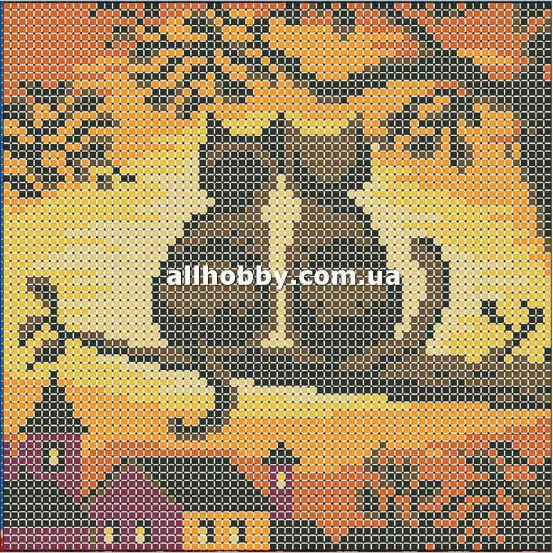 Схема для вышивания бисером Коты на закате БИС5-11 (А5)