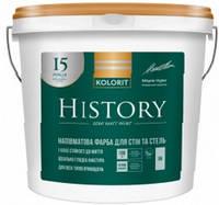 Краска History (Premium 20) KOLORIT противоплесневая, 9л