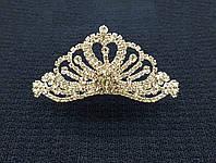 Свадебная Диадема-гребешок с россыпью камней