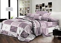 Двуспальный комплект постельного белья евро 200*220 хлопок  (7418) TM KRISPOL Украина