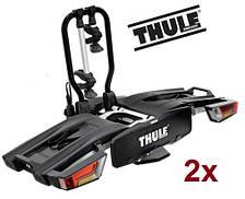 Велобагажник Thule EasyFold XT 2. Багажник для перевозки 2-х велосипедов на фаркоп. Велоплощадка.Велокреплени
