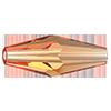 Хрустальные бусины Oat Preciosa (Чехия)  15х6 мм, Crystal Light Orange