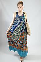 Платье-сарафан летнее в пол Markshara синее в арнаменте