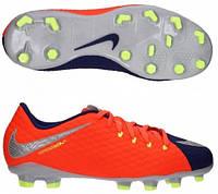 Детские футбольные бутсы Nike Hypervenom Phelon III FG 852595-409 JR, фото 1
