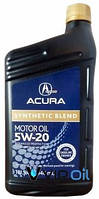 """ACURA 087989033 Масло моторное синтетическое Acura """"Synthetic Blend 5W-20"""", 0.946л"""