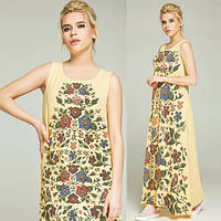 Літнє шифонове плаття з квітковим принтом, фото 1