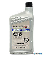 """Honda 087989037 Масло моторное синтетическое Honda """"HG Ultimate 0W-20"""", 1л"""