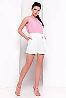 Женские летние шорты белого цвета. Модель 15785.