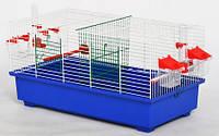 Клетка дуэт мини для птиц Цинк 56*30*29 Лори