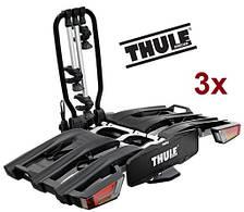 Велобагажник Thule EasyFold XT 3. Багажник для перевозки 3-х велосипедов на фаркоп. Велоплощадка.Велокрепление