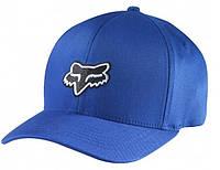 Кепка с логотипом FOX Legacy (синяя с черным лого) мото