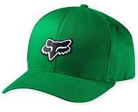 Кепка с логотипом FOX Legacy (зеленая с черным лого) мото