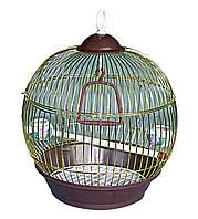 Клетка для птиц круглая Diana золотистая  D.33*59