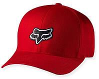 Кепка с логотипом FOX Legacy (красная с черным лого) мото