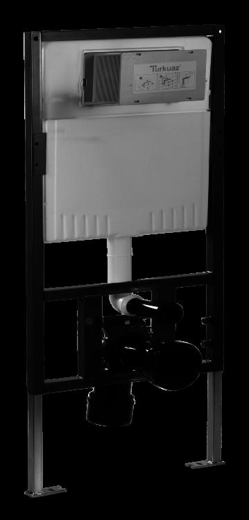 Інсталяція для підвісного унітазу з круглою кнопкою