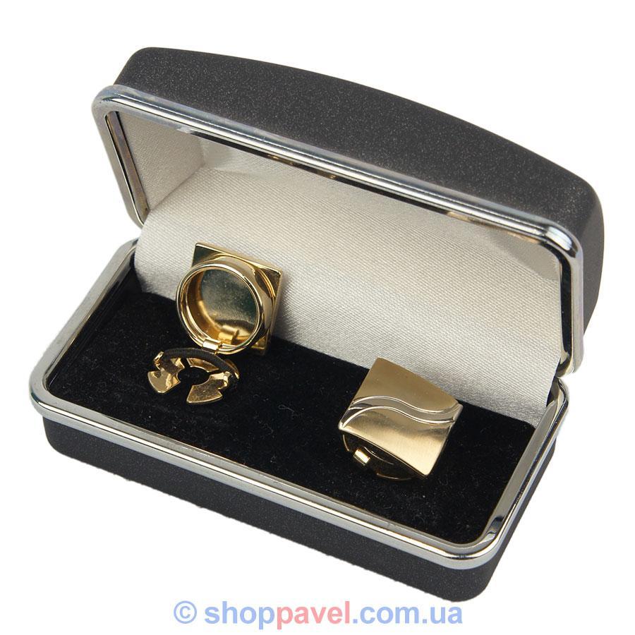 Запонки квадратные под золото (Турция) 0150 С