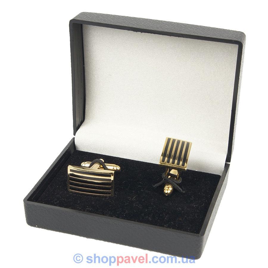 Запонки прямоугольные под золото (Турция) 0150 С