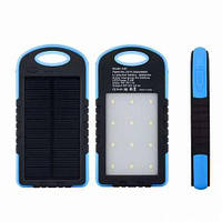 Power Bank 20800 mah Solar Charger с лед панелью 12 ламп