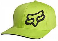 Кепка с логотипом FOX Signature (зеленая, салатовая с черным лого) мото