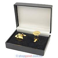 Запонки овальные под золото (Турция) 0150 С
