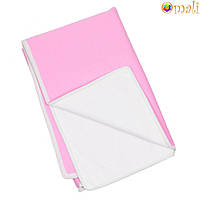Непромокаемая двусторонняя пеленка 60x80 тм «Omali» (трикотаж розовый)