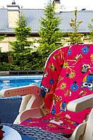 """Матрасик в стульчик для кормления/коляску """"совы на розовом/звезды"""""""