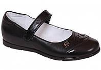 Туфли школьные кожаные детские подростковые для девочки тм Каприз Украина р. 31 32 33 34 35 36 черные