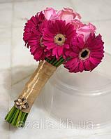 Свадебный букет Гербера+роза