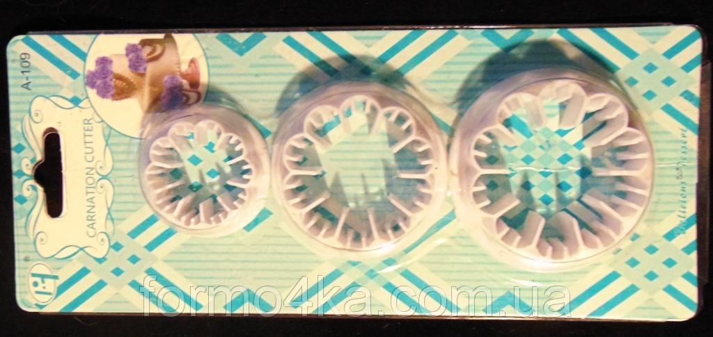 Набор вырубок для мастики Гвоздика 3 шт