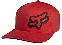 Кепка с логотипом FOX Signature (красная с черным лого) мото
