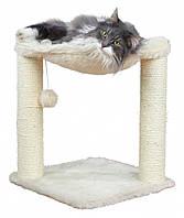 Когтеточка Trixie Baza Scratching Post для кошек с гамаком, 41х41х50 см