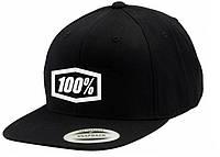 """Кепка Ride с логотипом 100% """"Corpo"""" Classic SnapBack (черная) мото"""
