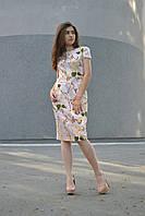 Летнее хлопковое платье в цветочный принт