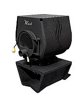 Отопительная конвекционная печь Rud Pyrotron Кантри 01 с варочной поверхностью Обшивка декоративная (коричнева
